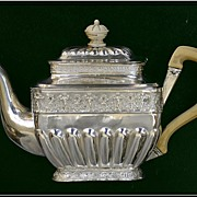 Antique Russian Sterling Silver Solitaire Teapot: Cherubs! 1834