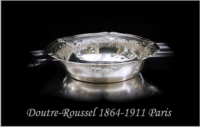 Antique French Sterling Silver Serving Bowl Roussel-Doutre