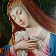 Painting of the Madonna mourning the dead Christ, Germany about 1840
