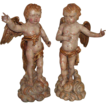 Pair of Baroque Angels, Northern Italy, first half of 18th century