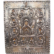 Russian Icon of the Mother of God of the Sign