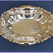 A Vienna silver bowl of oval form and curved border