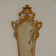 An Italian 18th century gilt wood mirror