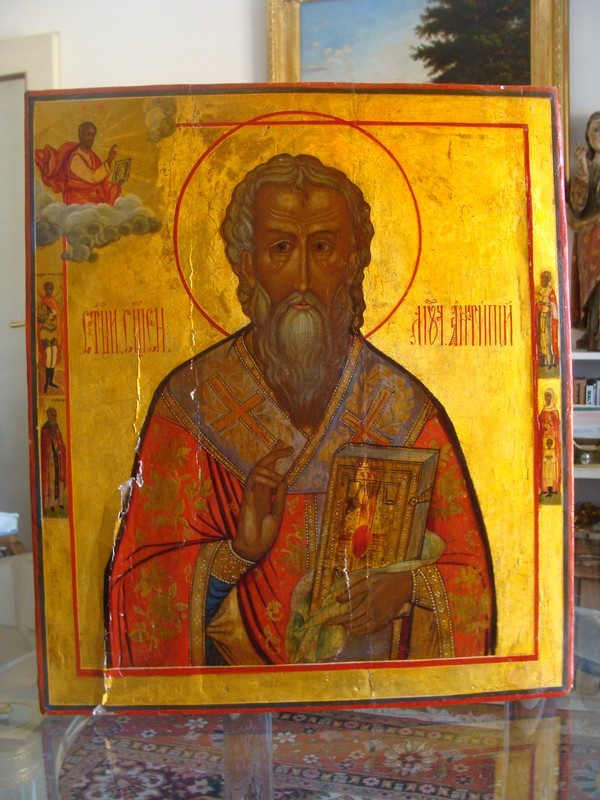Antique Russian Icon of St.Nicholas &quot;The Miracle-worker&quot;