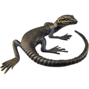 Antique Vienna Bronze of a lizard, signed WW(Wiener Werkst�tten, dated at about 1900