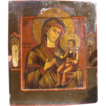 Antique Russian Icon depicting the Mother of God of Hodegetria