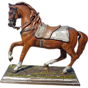 Antique Vienna Bronze figure of a horse signed by Franz Bergmann