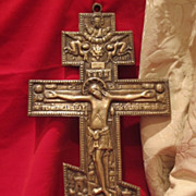 Antique Russian Icon Cross of very big size , 19th century