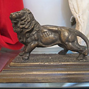 Vienna Bronze figure modelled and cast a a standing lion, dated at the early 20th century