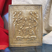 "Russian Icon ""Sedmitsa"" ,copper alloy and very good casting,late 18th century"