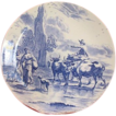 Lovely blue and white plate by Delfts Boch Fr�res La Louvi�re Belgium