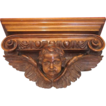 A fine carved lime wood console table with spread winged angel support, early 19th century
