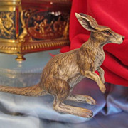 Lovely Vienna Bronze figure of a kangaroo,signed by Fritz Bermann,ca. 1940