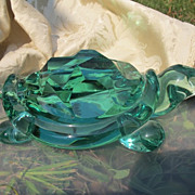 Green glass turtle by Archimede Seguso (1909- 1999) dated at about 1970