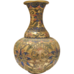 Cloisonne enameled fine  vase with colourful ornaments, early 20th century