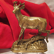 Vienna Bronze figure modelled and cast as a running roebuck, early 20th century