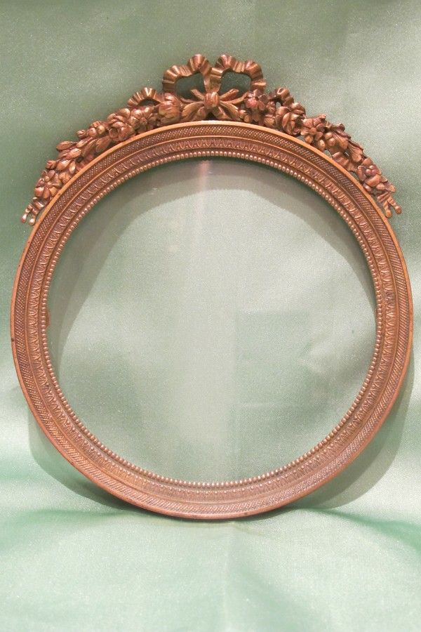 French gilt bronze frame, 19th century
