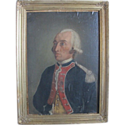 Antique French painting depicting a French noble man, early 19th century