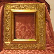 Art Nouveau gilt wood frame with floral motifs, dated at the turn of the 20th ...