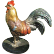 Antique Vienna Bronze figure of a colourful rooster, early 20th century