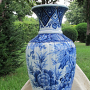 19th century Japanese Blue and White Imari Vase, Meiji Period(late 19th century)