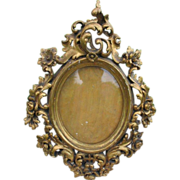 Antique  fine carved giltwood   frame, 19th century