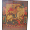 "Antique Russian Icon depicting ""St. George the Warrior"", 19th century"