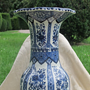 Blue and white Delft vase, first half 20th century
