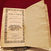 Antique Jewish prayer book dated 1834 and edited by Anton von Schmid, iperial private editor i