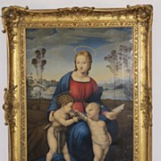 19th century Reproduction of Raphael�s Madonna del Cardellino,dated 1825 and signed