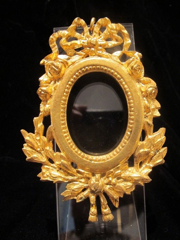 Antique French gilt bronze frame, 19th century
