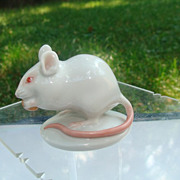 White mouse, Augarten porcelain by Prof. Robert Ullmann,1935