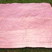 SALE 1930s Hollywood Glamour Era Quilted Satin Comforter