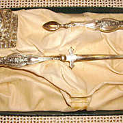 Art Nouveau Sterling Silver Desk Letter Set w/ Ink Well & Letter Opener