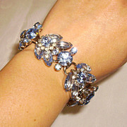 Juliana, DeLizza & Elster Blue Rhinestone Bracelet