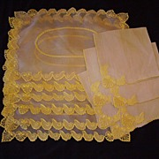 Vintage MARGHAB Napkin & Placemat 12 Pieces SHELLS