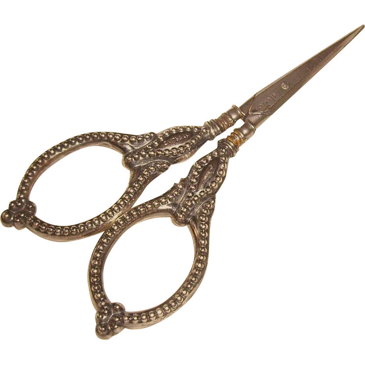 Antique Sterling Handled German Sewing Scissors From Chelseaantiques On Ruby Lane