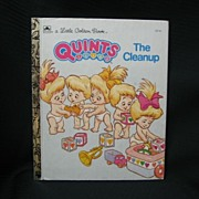 "Little Golden Books ""Quints The Cleanup"" First Edition"