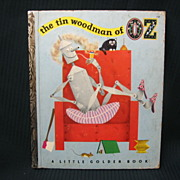 "SALE ""The Tin Woodman of Oz"" Little Golden Book First Edition"