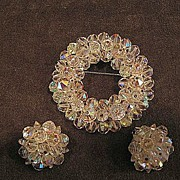 SALE Gorgeous Laguna Pin And Earring Set