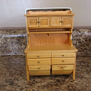 SALE Concord Museum Wood Miniature Floor Bin Hutch