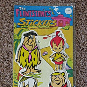 SALE 1977 Flintstones 3-Dimenstional Puffy Sticker Package