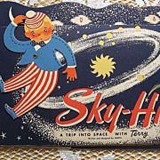 SALE Rare &quot;Sky-Hi A Trip Into Space With Terry&quot; Movable Pop Up Book