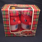 SALE Lucky Clover Toys Scottish Salt and Pepper Shakers New in Box