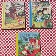 "SALE Rare First Editions Color Classics McLoughlin Bros Set with ""Peter Pig and His Airpl"