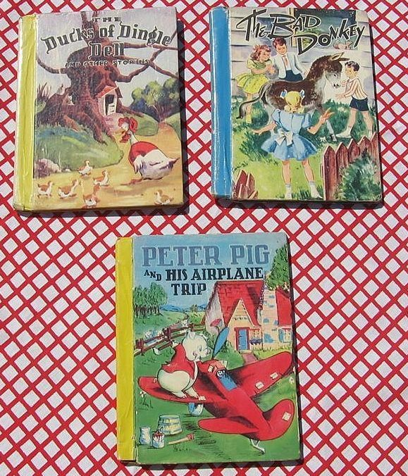 "Rare First Editions Color Classics McLoughlin Bros Set with ""Peter Pig and His Airplane Trip"""