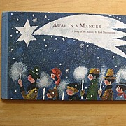 "SALE 1965 ""Away In a Manager""  Mares and Paul Nussbaumer Children Book"