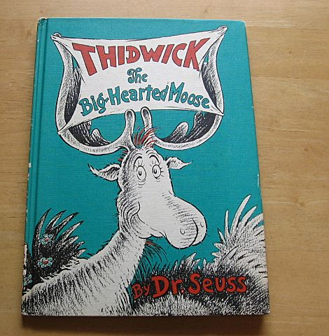 "Vintage Dr.Suess ""Thidwick The Big-Hearted Moose"" Book Club Edition"
