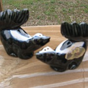 SALE Rosemeade Dakota Pottery Skunk Shakers