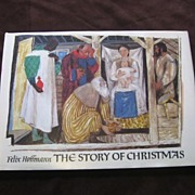 "SALE 1975 Felix Hoffmann ""The Story Of Christmas"" Children Picture Book"